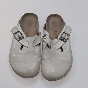 Birkenstock White Clogs Size 38